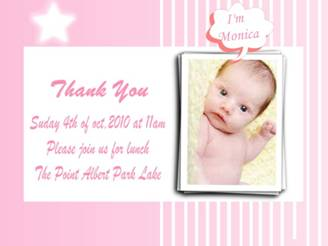 How to Make New Born Baby's Invitation Card