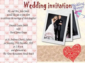 How To Make A Wedding Invitation Card Using Picture Collage Maker