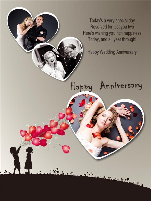 Wedding anniversary photo collage maker online free mini