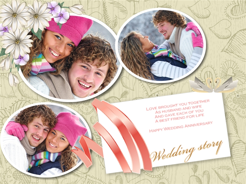 Anniversary Collage Card Add On Templates Download Free