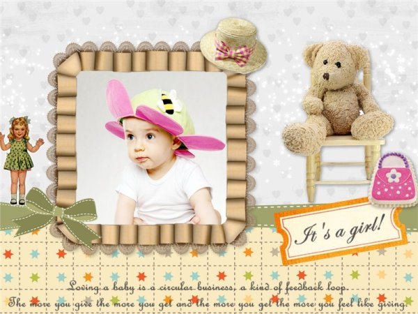 Baby Collage / Card Add-on Templates - Download Free