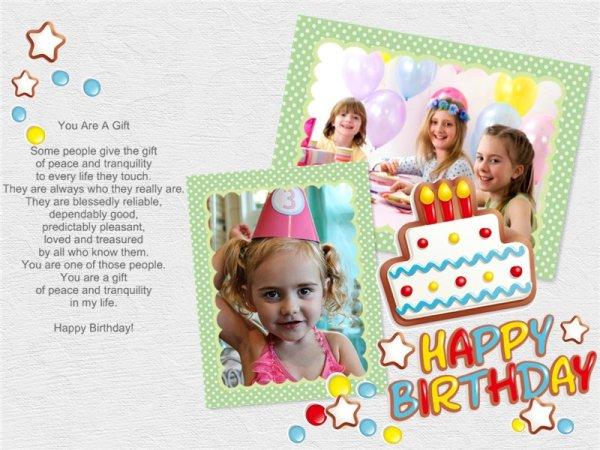 Make Happy Birthday Photo Collage