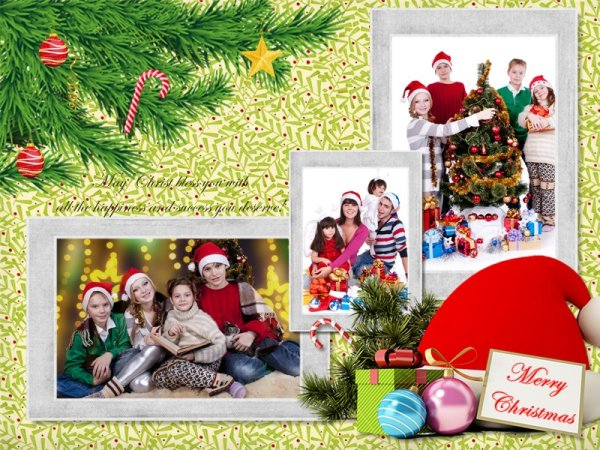 christmas collage    card add-on templates