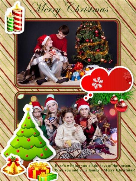 christmas photo collage templates