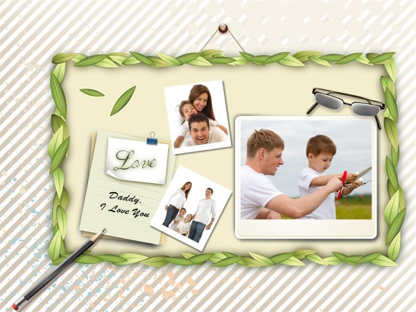 Father\'s Day Card Template - Download Free