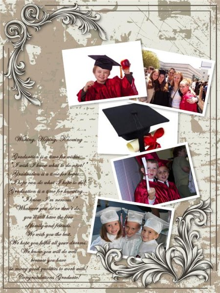 graduation collage    card add-on templates