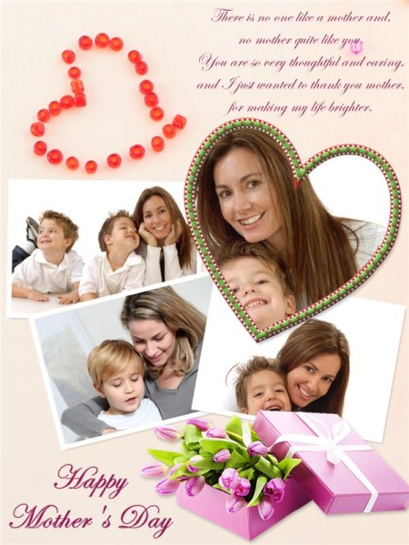 mother s day collage card add on templates download free