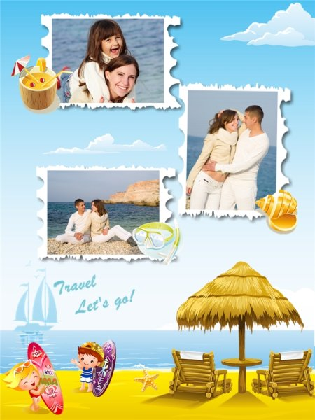 Travel Collage Card Add On Templates Download Free