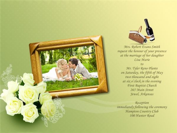 Wedding Invitation Card Addon Templates Download Free