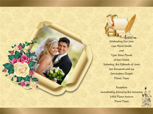 Wedding Invitation Card Sample: Wedding Invitation Card Add-on Templates