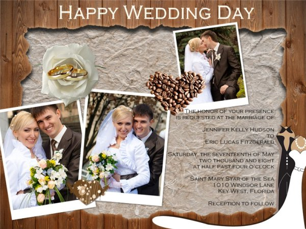 wedding invitation card add-on templates