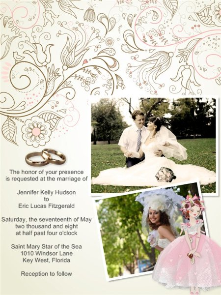Wedding invitation card add on templates download free see more photo collage samples maxwellsz