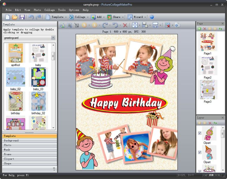 Create photo collages from your digital images. great Screen Shot
